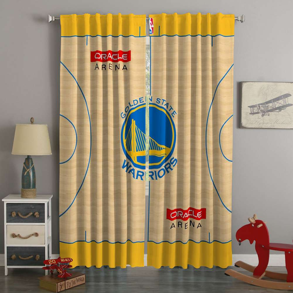 3D Printed Golden State Warriors Custom Living Room Curtains