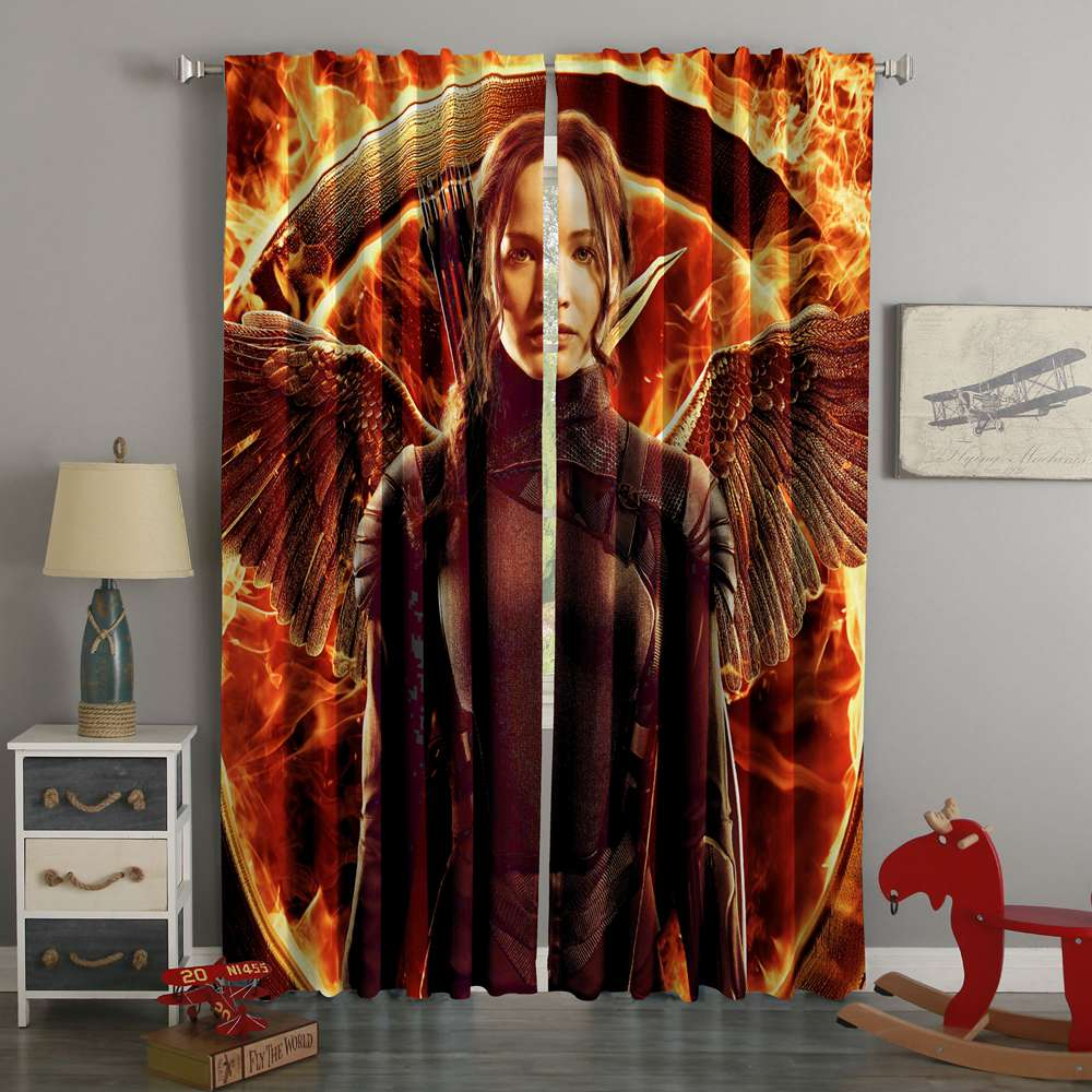 3D Printed The Hunger Games Katniss Style Custom Living Room Curtains