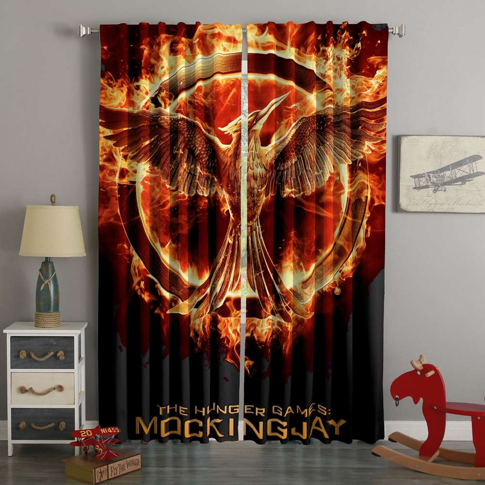 3D Printed The Hunger Games Mockingjay Style Custom Living Room Curtains