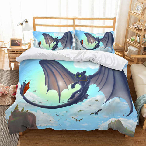 3D Customize How To Train Your Dragon Bedding Set Duvet Cover Set Bedroom Set Bedlinen