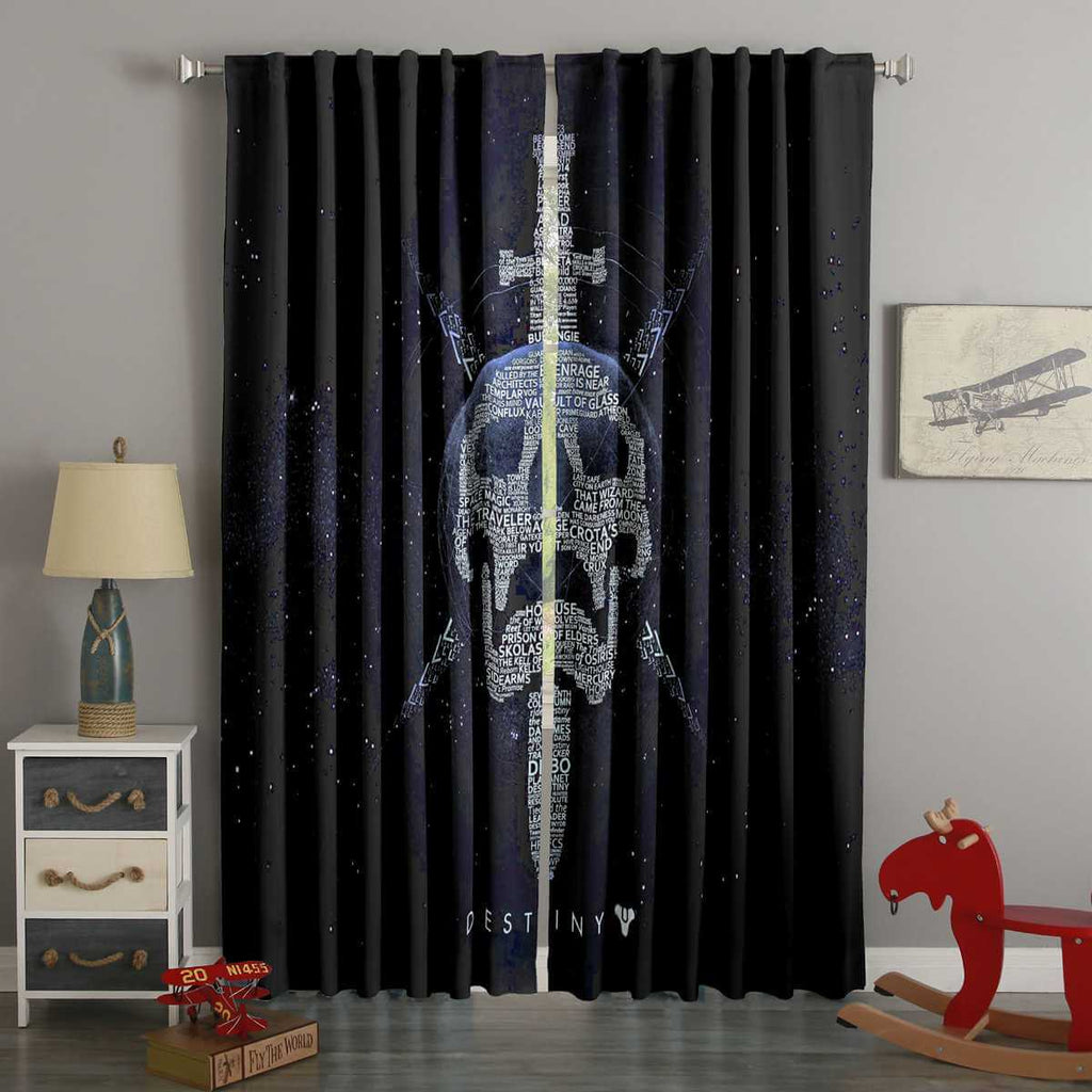 3D Printed Destiny Style Custom Living Room Curtains