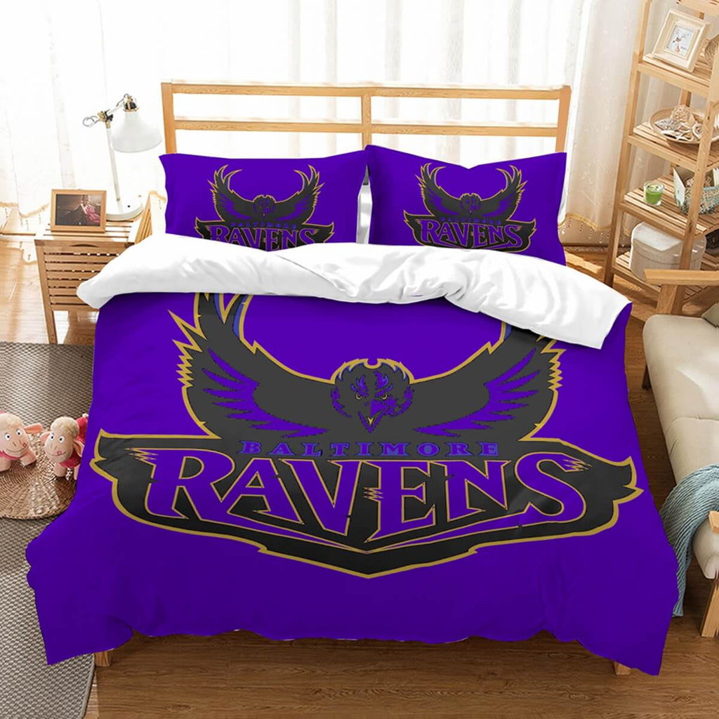 3D Customize Baltimore Ravens Bedding Set Duvet Cover Set Bedroom Set Bedlinen