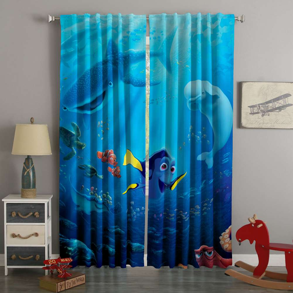 3D Printed Finding Dory Style Custom Living Room Curtains