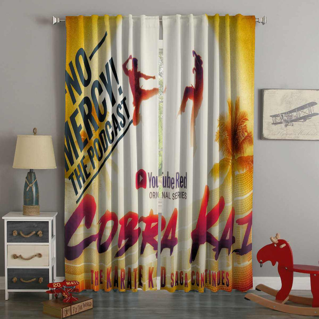 3D Printed Cobra Kai Style Custom Living Room Curtains