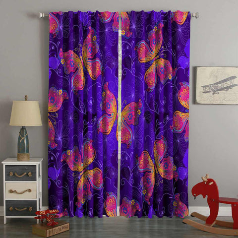 3D Printed Butterflies Style Custom Living Room Curtains