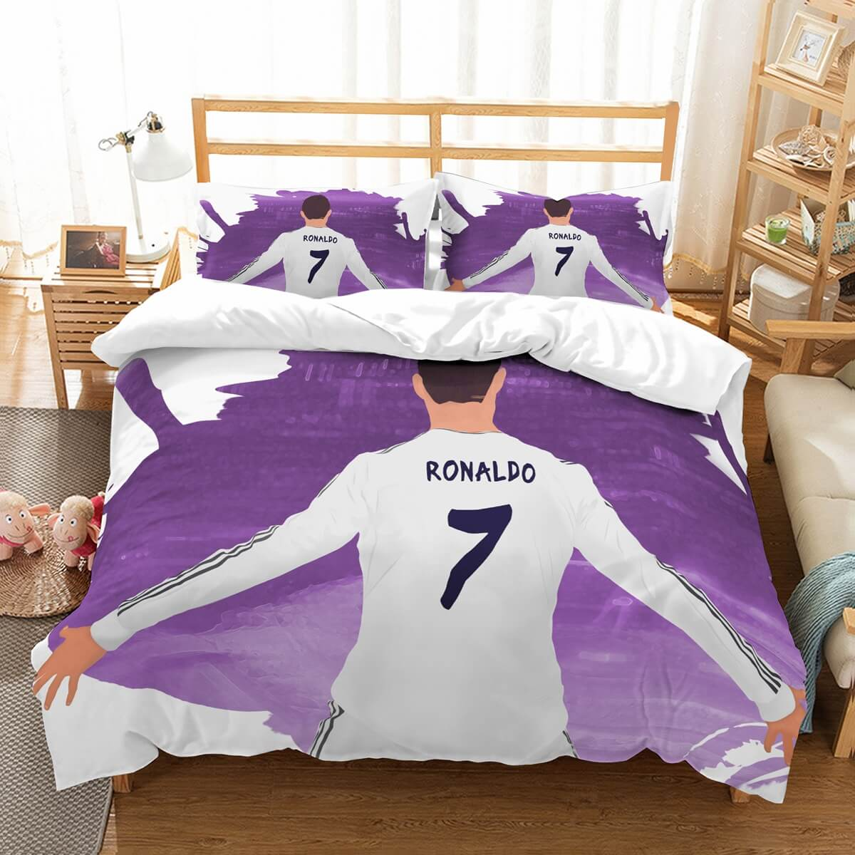 3D Customize Cristiano Ronaldo Bedding Set Duvet Cover Set Bedroom Set Bedlinen