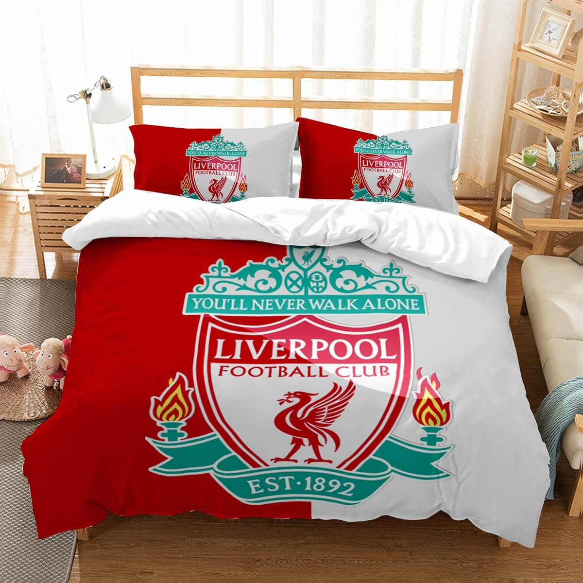 3D Customize Liverpool F.C. Bedding Set Duvet Cover Set Bedroom Set Bedlinen