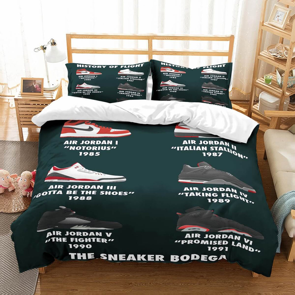 3D Customize Jordan Shoes Bedding Set Duvet Cover Set Bedroom Set Bedlinen