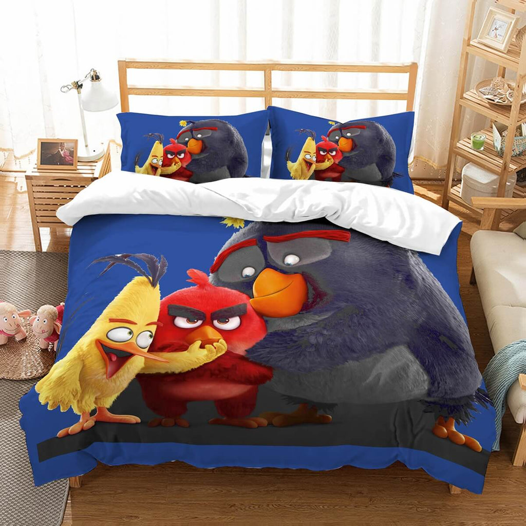 3D Customize Angry Birds Bedding Set Duvet Cover Set Bedroom Set Bedlinen