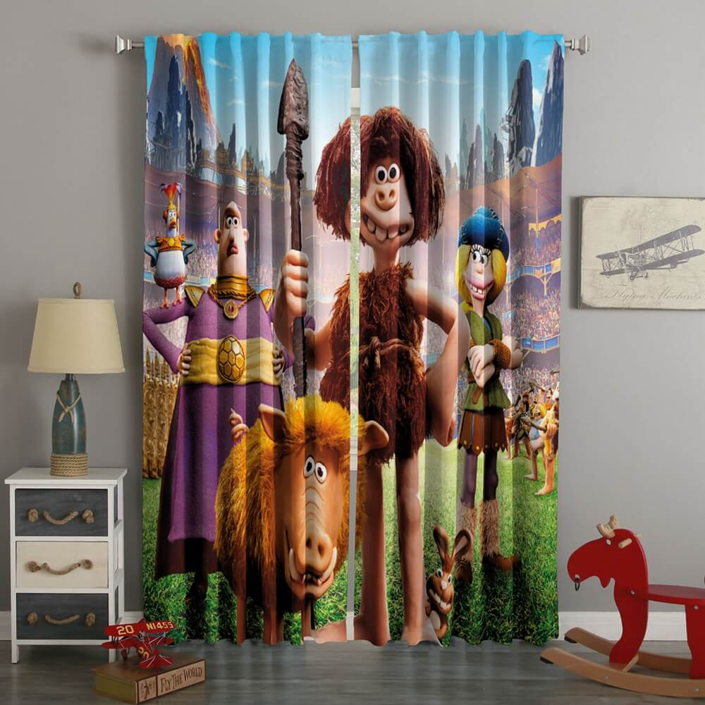 3D Printed Early Man Style Custom Living Room Curtains