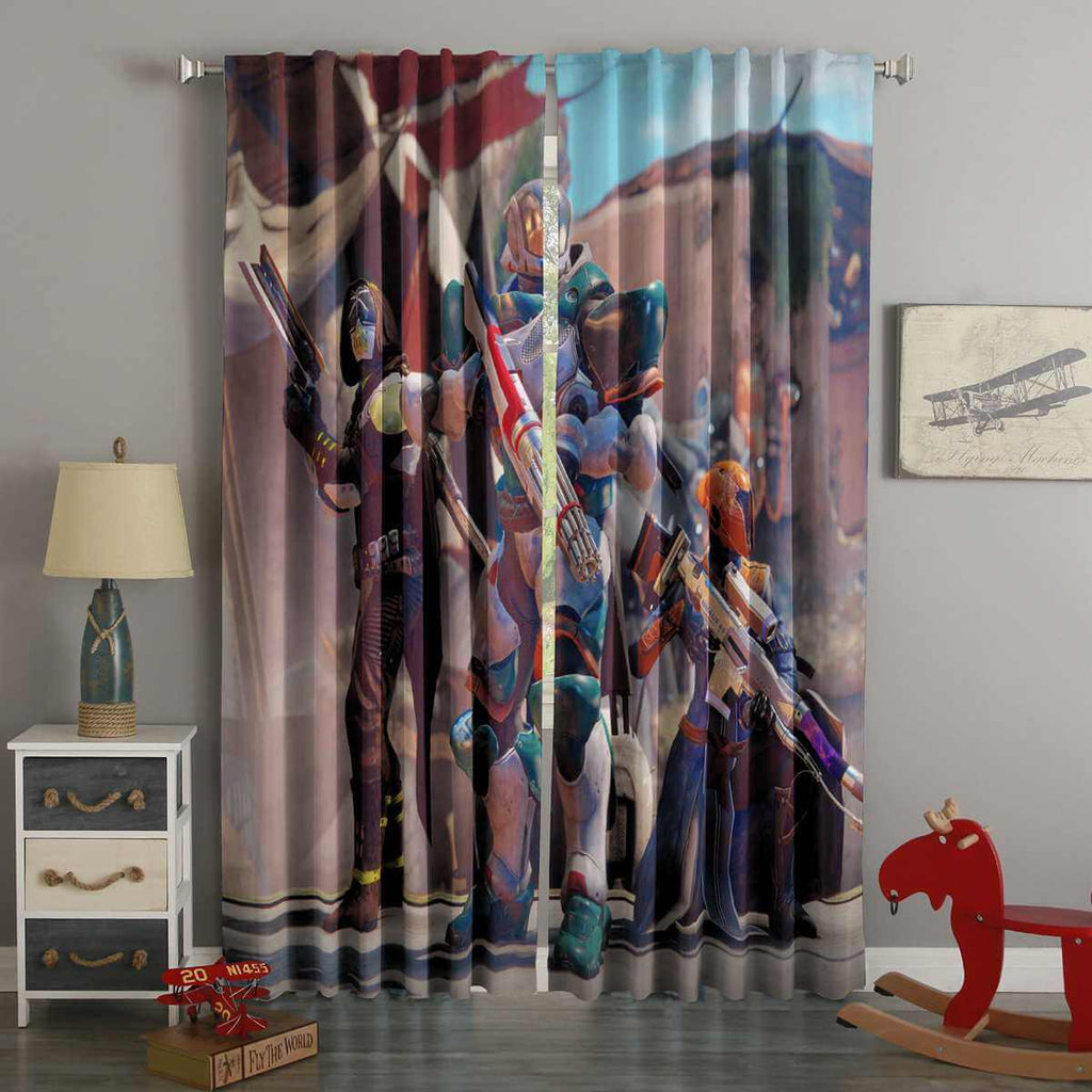 3D Printed Destiny2 Style Custom Living Room Curtains