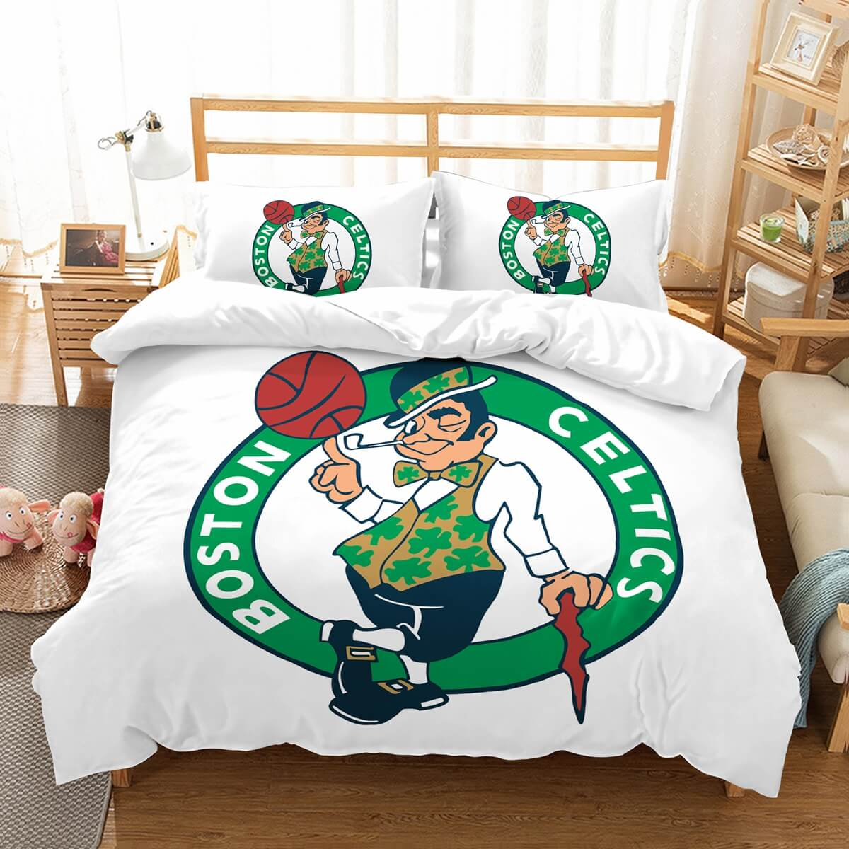 3D Customize Boston Celtics Bedding Set Duvet Cover Set Bedroom Set Bedlinen