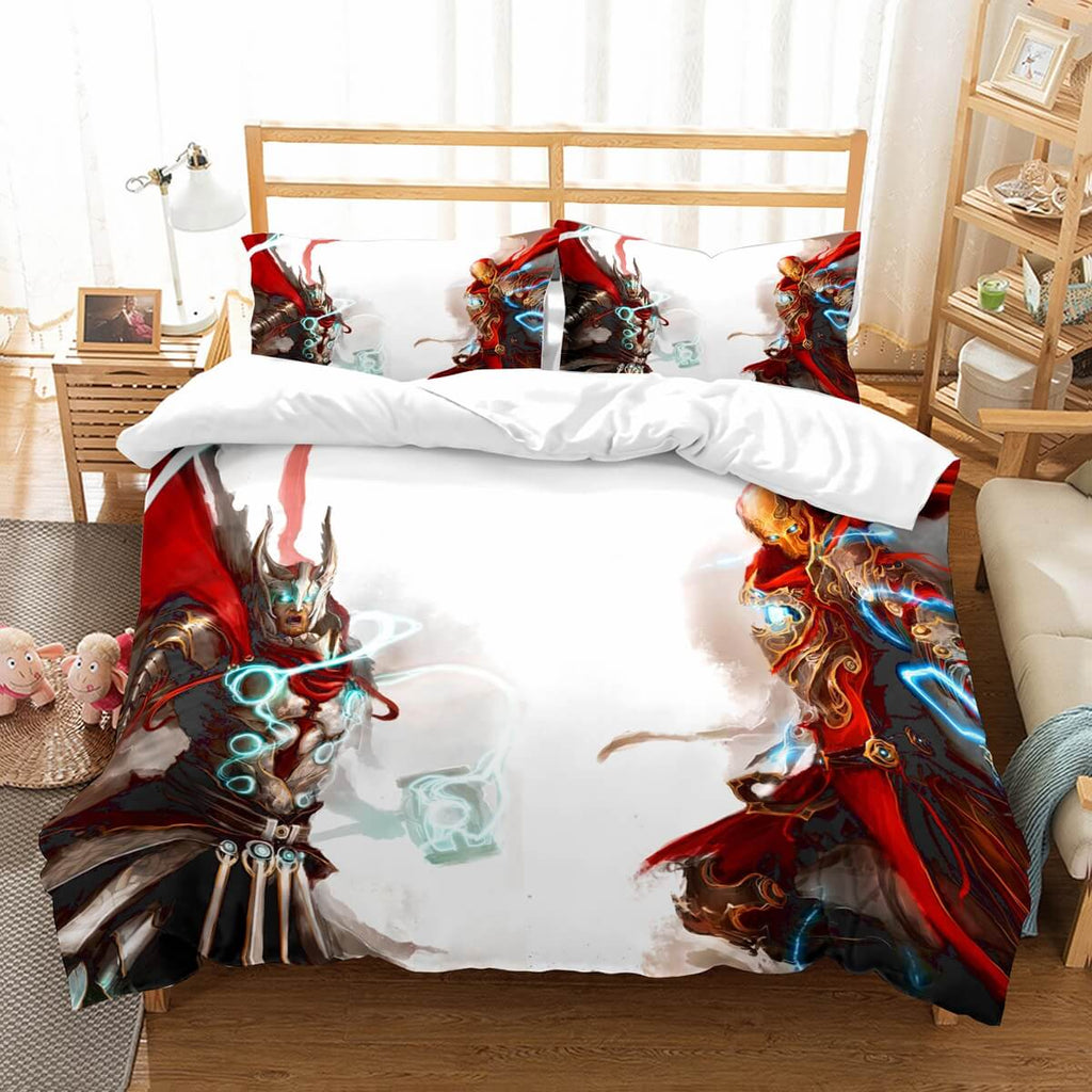 3D Customize Thor Vs Iron Man Bedding Set Duvet Cover Set Bedroom Set Bedlinen