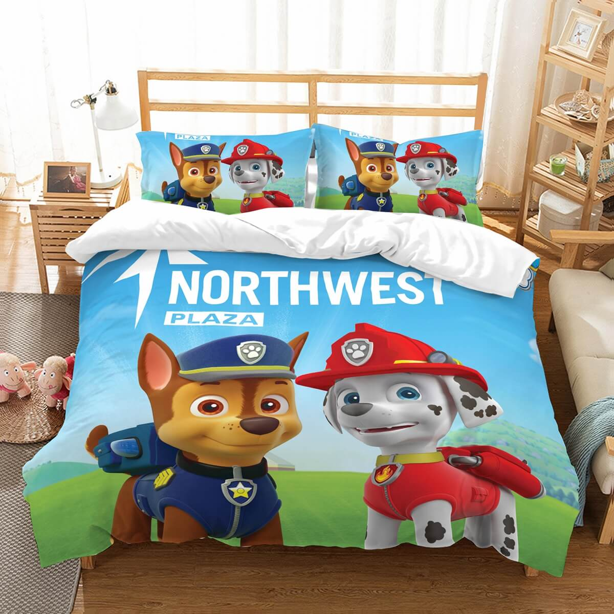 3D Customize PAW Patrol Bedding Set Duvet Cover Set Bedroom Set Bedlinen