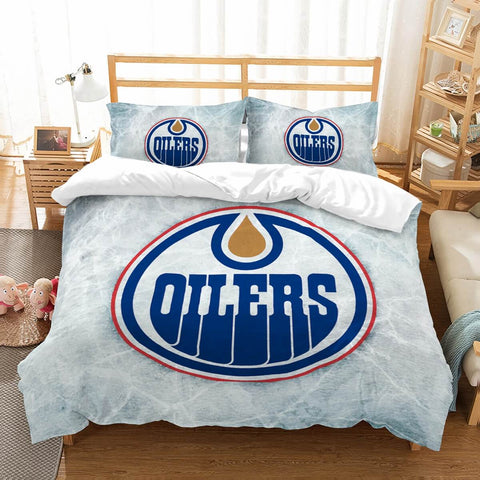 3D Customize Edmonton Oilers Bedding Set Duvet Cover Set Bedroom Set Bedlinen