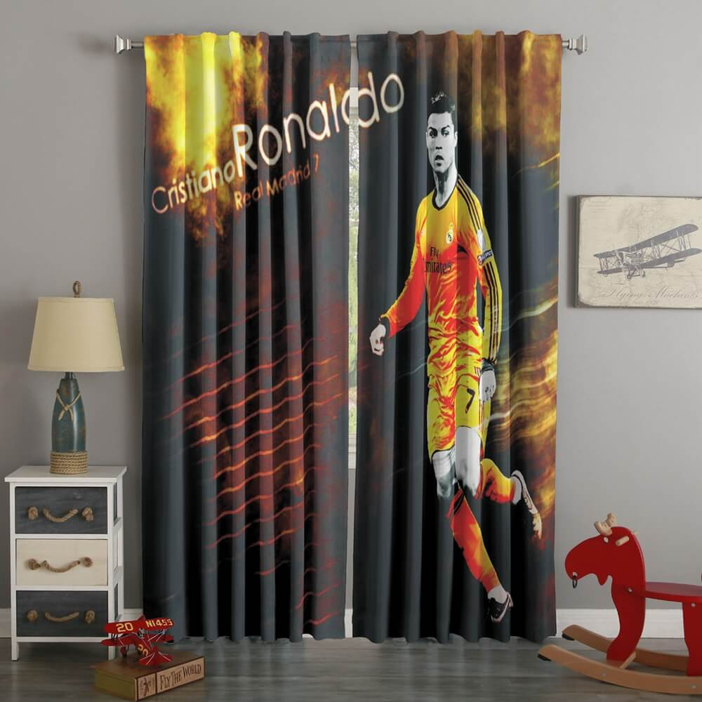 3D Printed Cristiano Ronaldo Style Custom Living Room Curtains