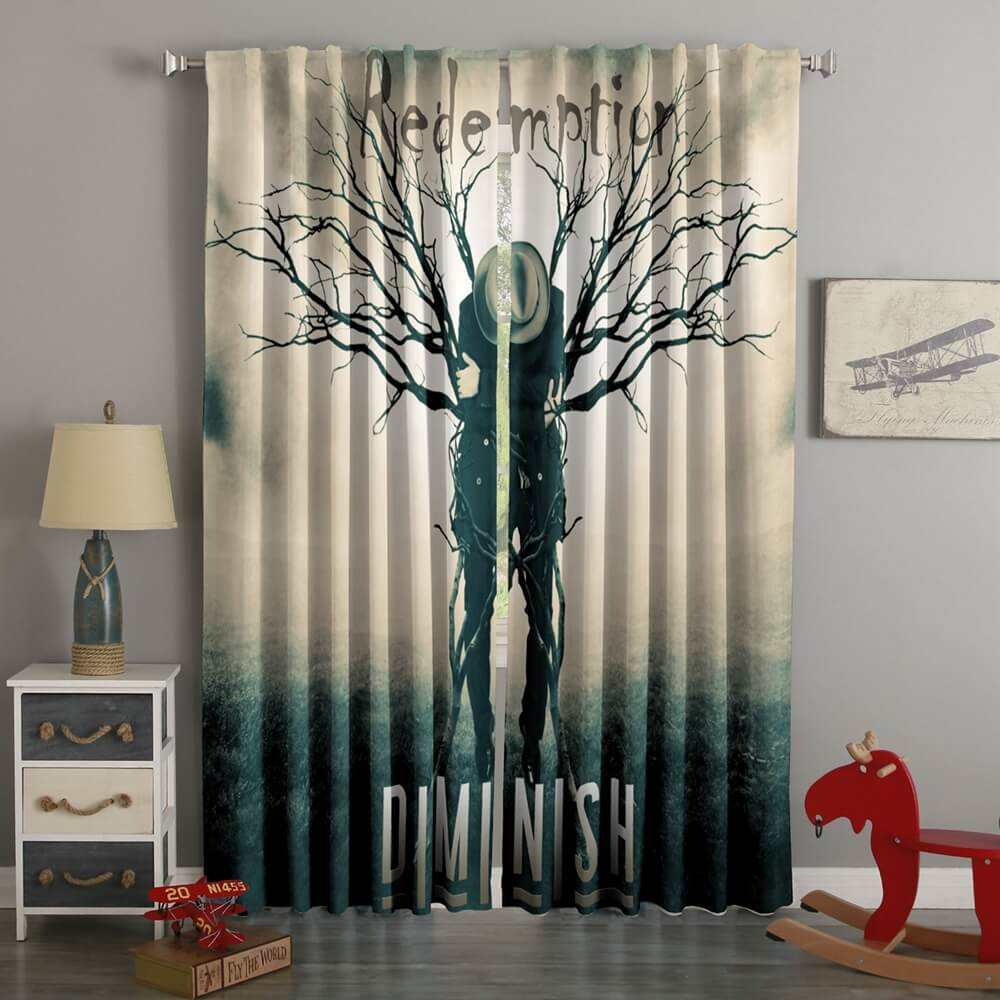 3D Printed Metal Band Diminish Style Custom Living Room Curtains