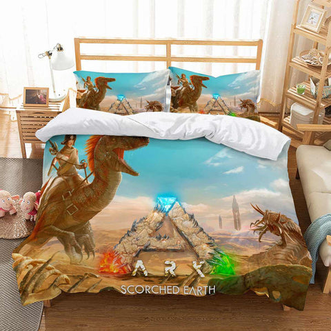 3D Customize ARK Scorched Earth Bedding Set Duvet Cover Set Bedroom Set Bedlinen