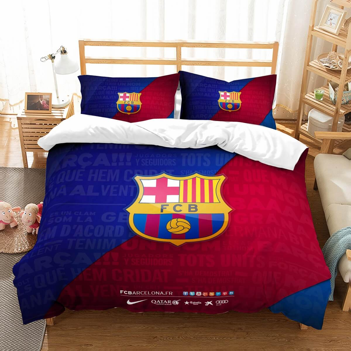 3D Customize FC Barcelona Bedding Set Duvet Cover Set Bedroom Set Bedlinen