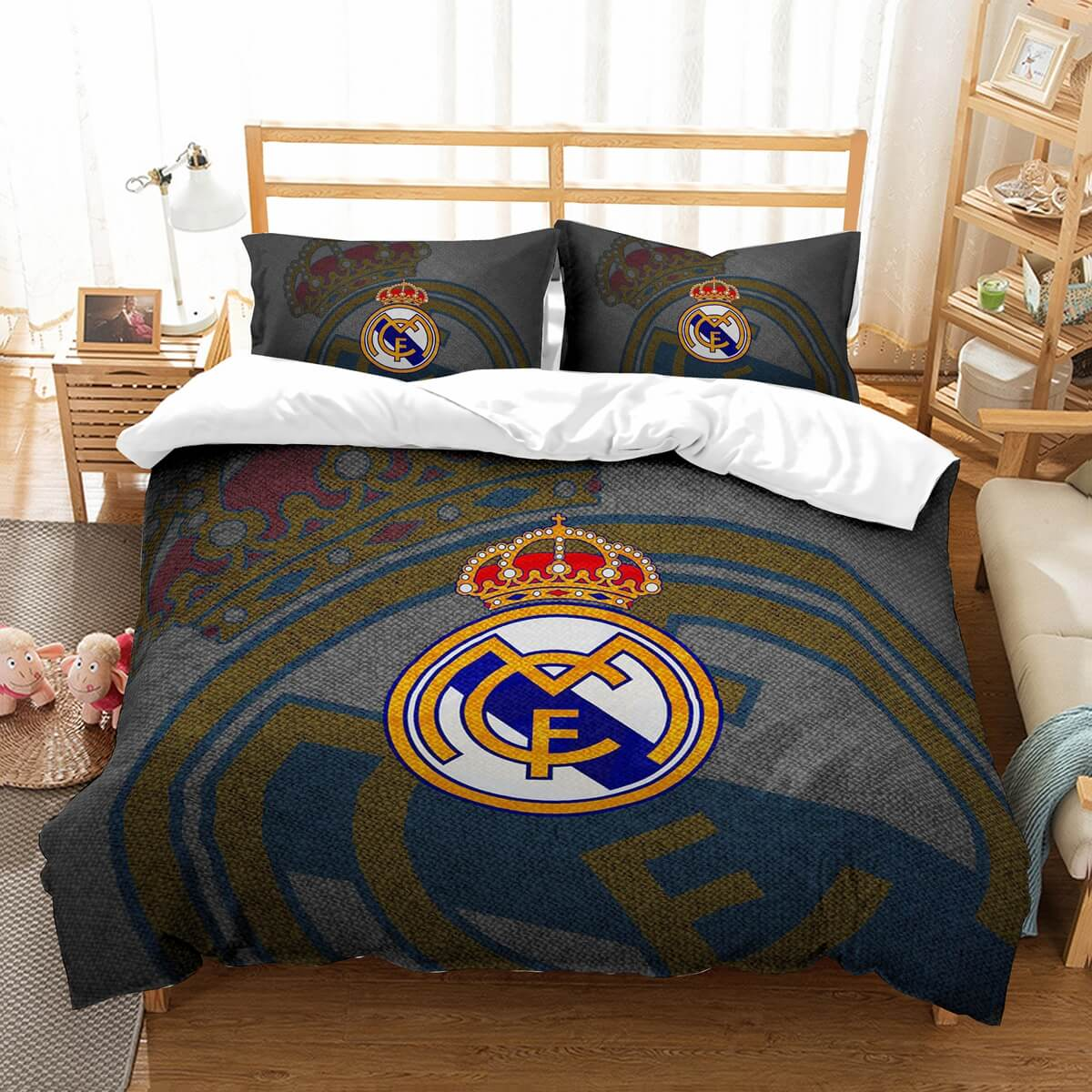 3D Customize Real Madrid C.F. Bedding Set Duvet Cover Set Bedroom Set Bedlinen