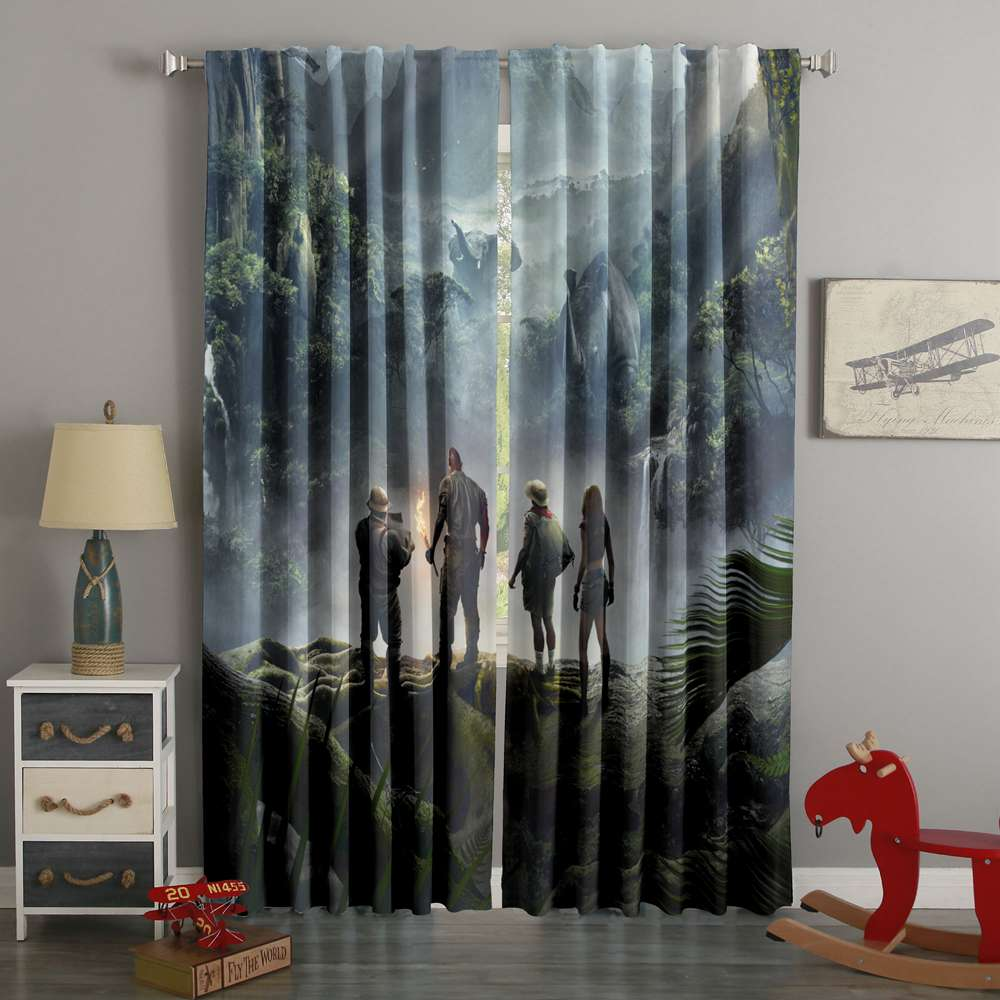 3D Printed Jumanji Style Custom Living Room Curtains