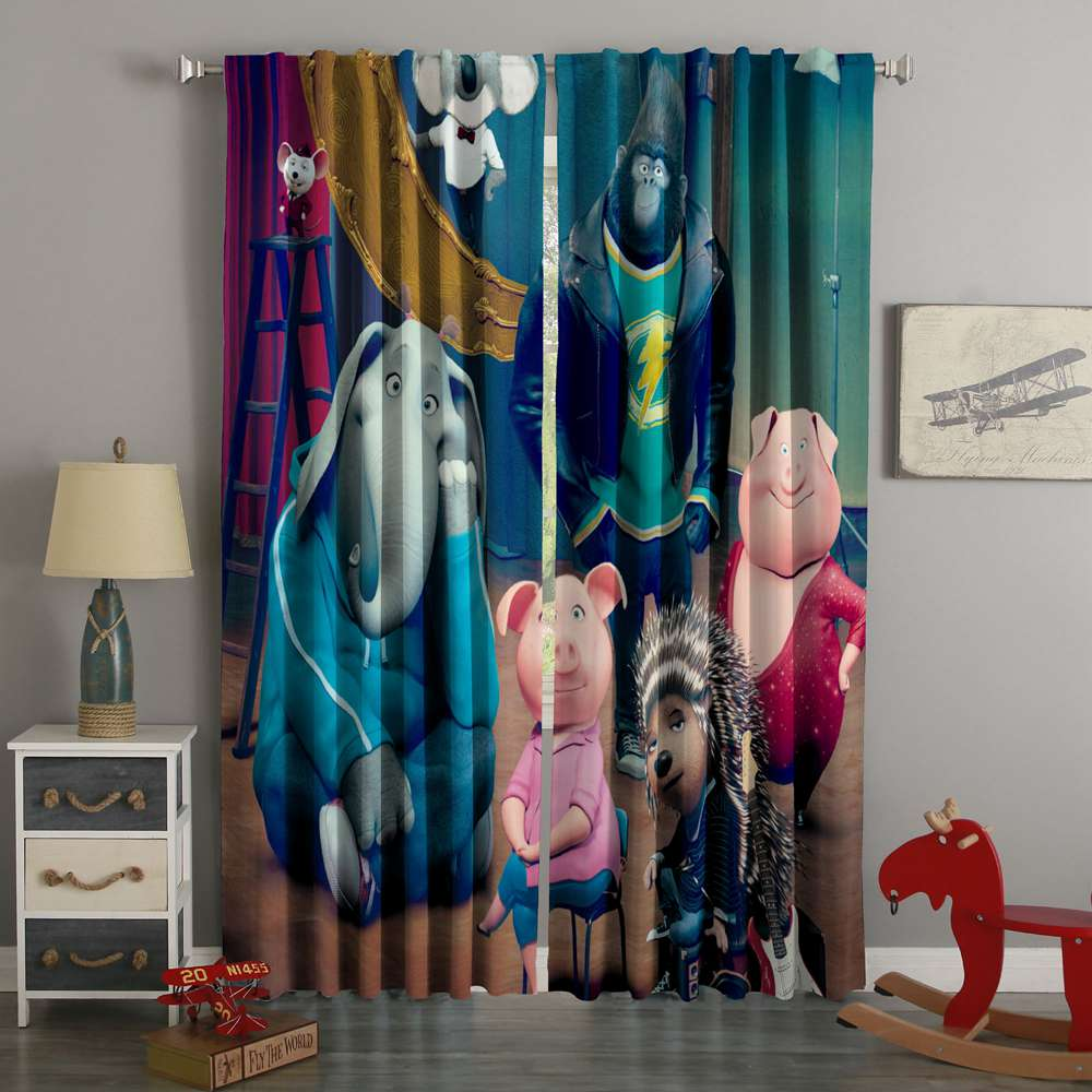 3D Printed Sing Style Custom Living Room Curtains