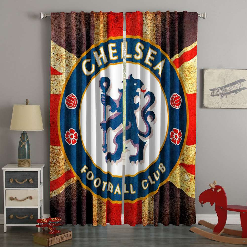 3D Printed Chelsea F.C. Style Custom Living Room Curtains