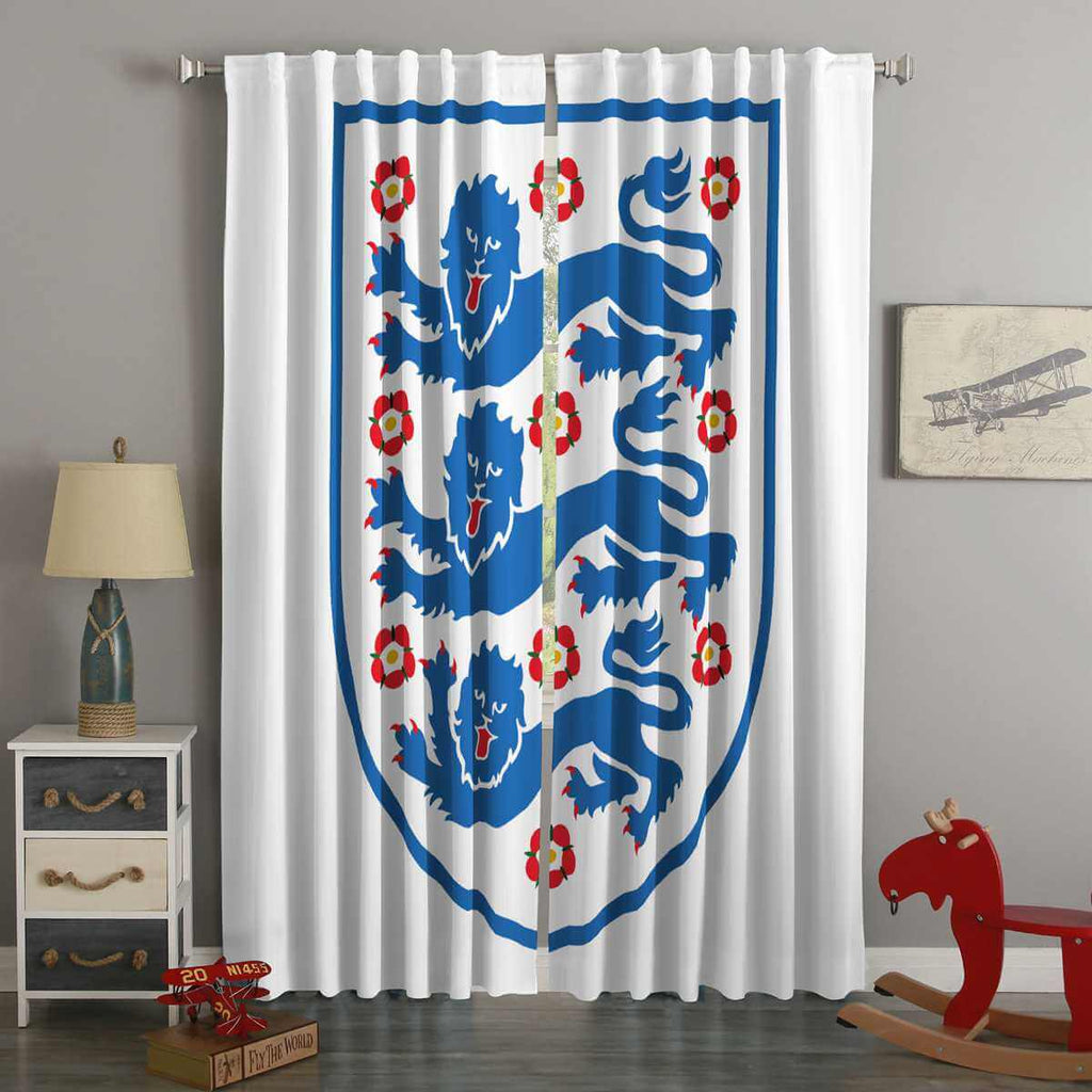 3D Printed FIFA World Cup Russia 2018 England Style Custom Living Room Curtains
