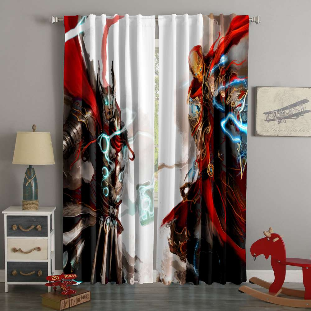 3D Printed Thor Vs Iron Man Style Custom Living Room Curtains