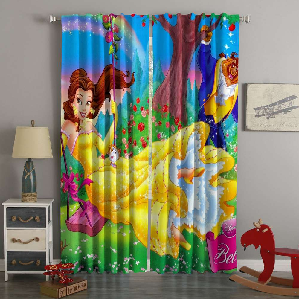 3D Printed Beauty And The Beast Custom Living Room Curtains