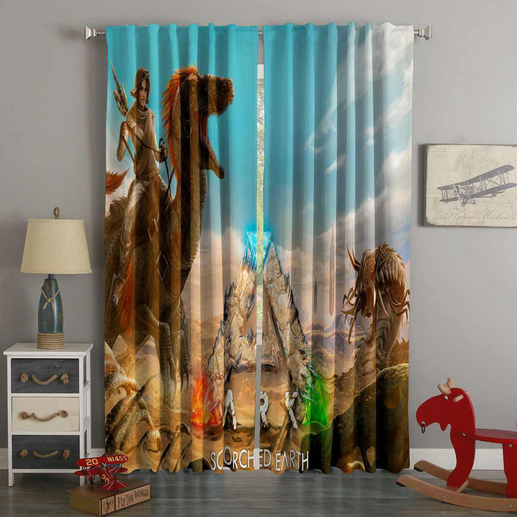 3D Printed ARK Scorched Earth Style Custom Living Room Curtains