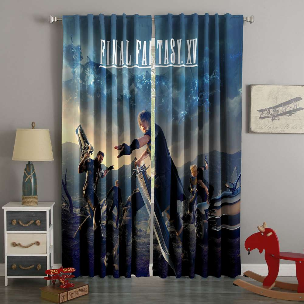 3D Printed Final Fantasy XV Style Custom Living Room Curtains