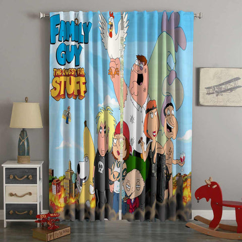 3D Printed Family Guy Style Custom Living Room Curtains