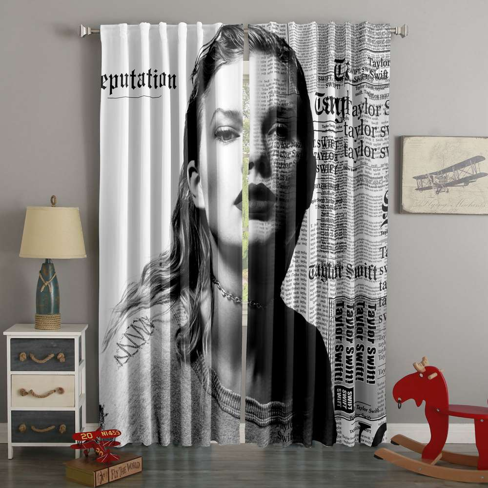 3D Printed Taylor Swift Style Custom Living Room Curtains