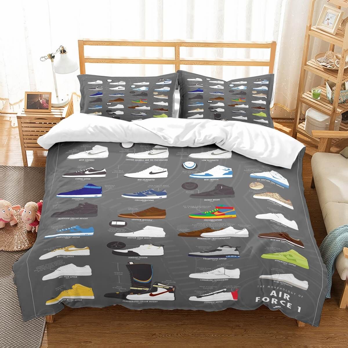 3D Customize Shoes Bedding Set Duvet Cover Set Bedroom Set Bedlinen