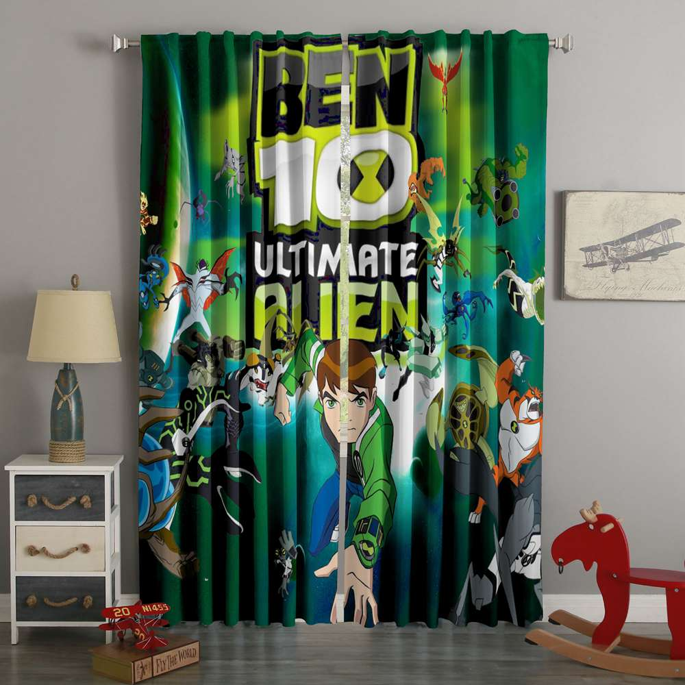 3D Printed Ben 10 Style Custom Living Room Curtains