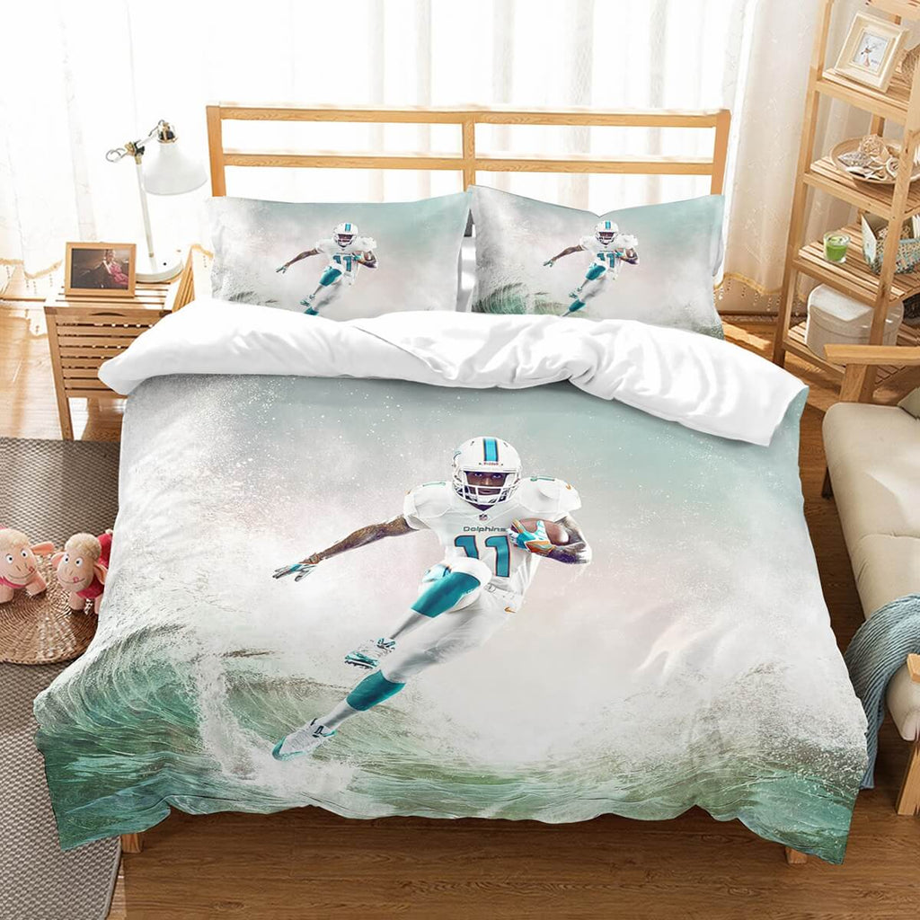 3D Customize Parker DeVante Miami Dolphins Bedding Set Duvet Cover Set Bedroom Set Bedlinen
