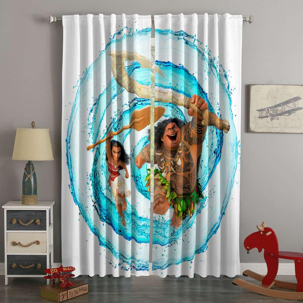 3D Printed Moana Style Custom Living Room Curtains