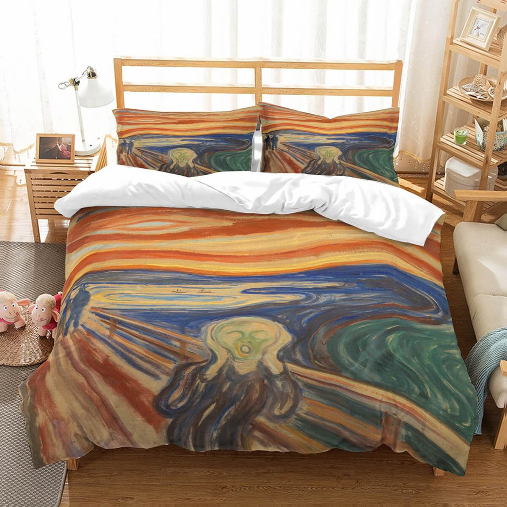 3D Customize The Scream Bedding Set Duvet Cover Set Bedroom Set Bedlinen