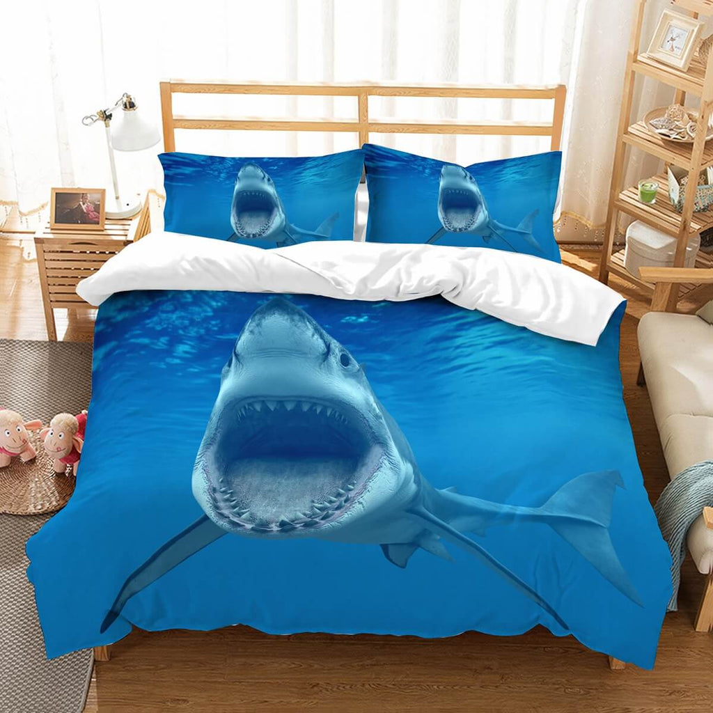 3D Customize Shark Bedding Set Duvet Cover Set Bedroom Set Bedlinen