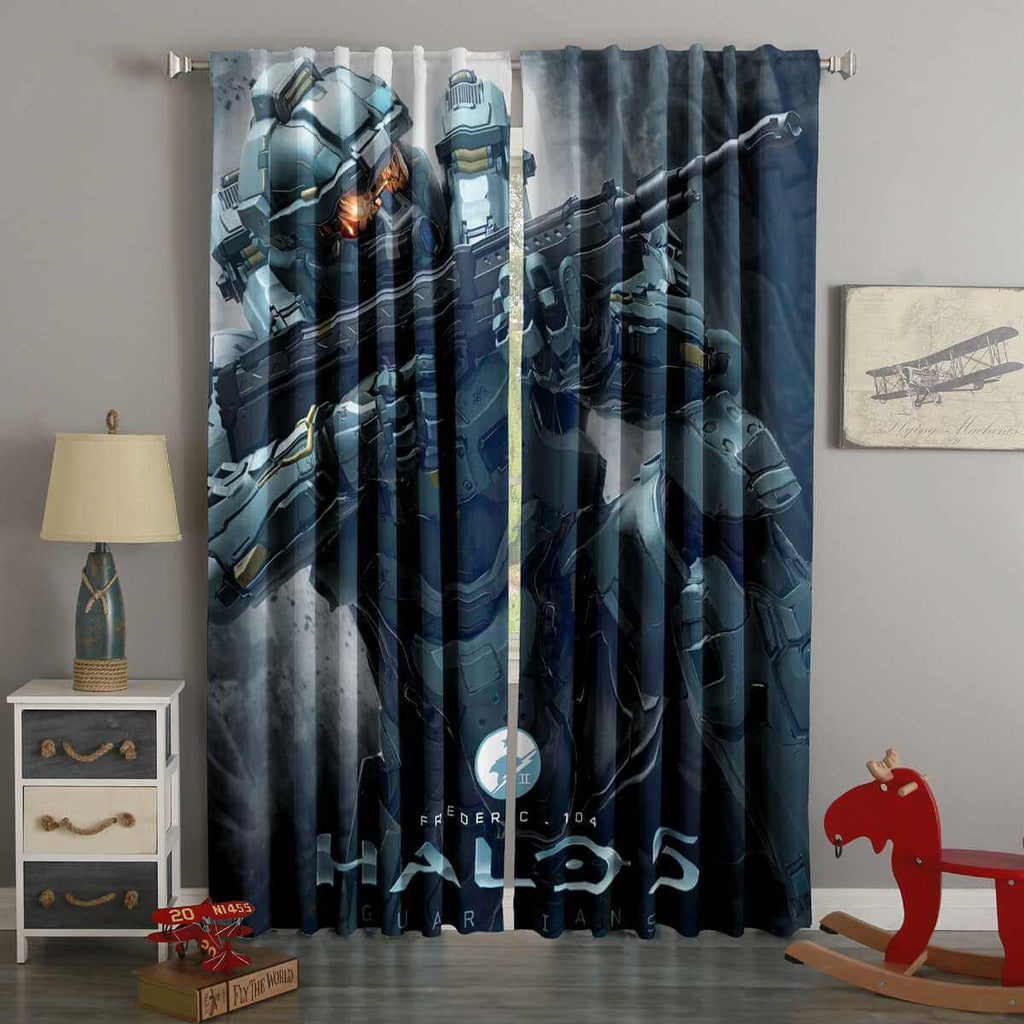 3D Printed Halo 5 Style Custom Living Room Curtains
