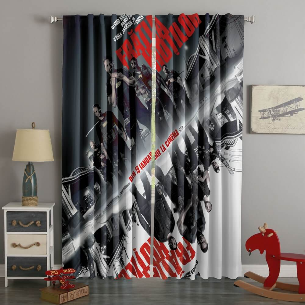 3D Printed Den Of Thieves Style Custom Living Room Curtains