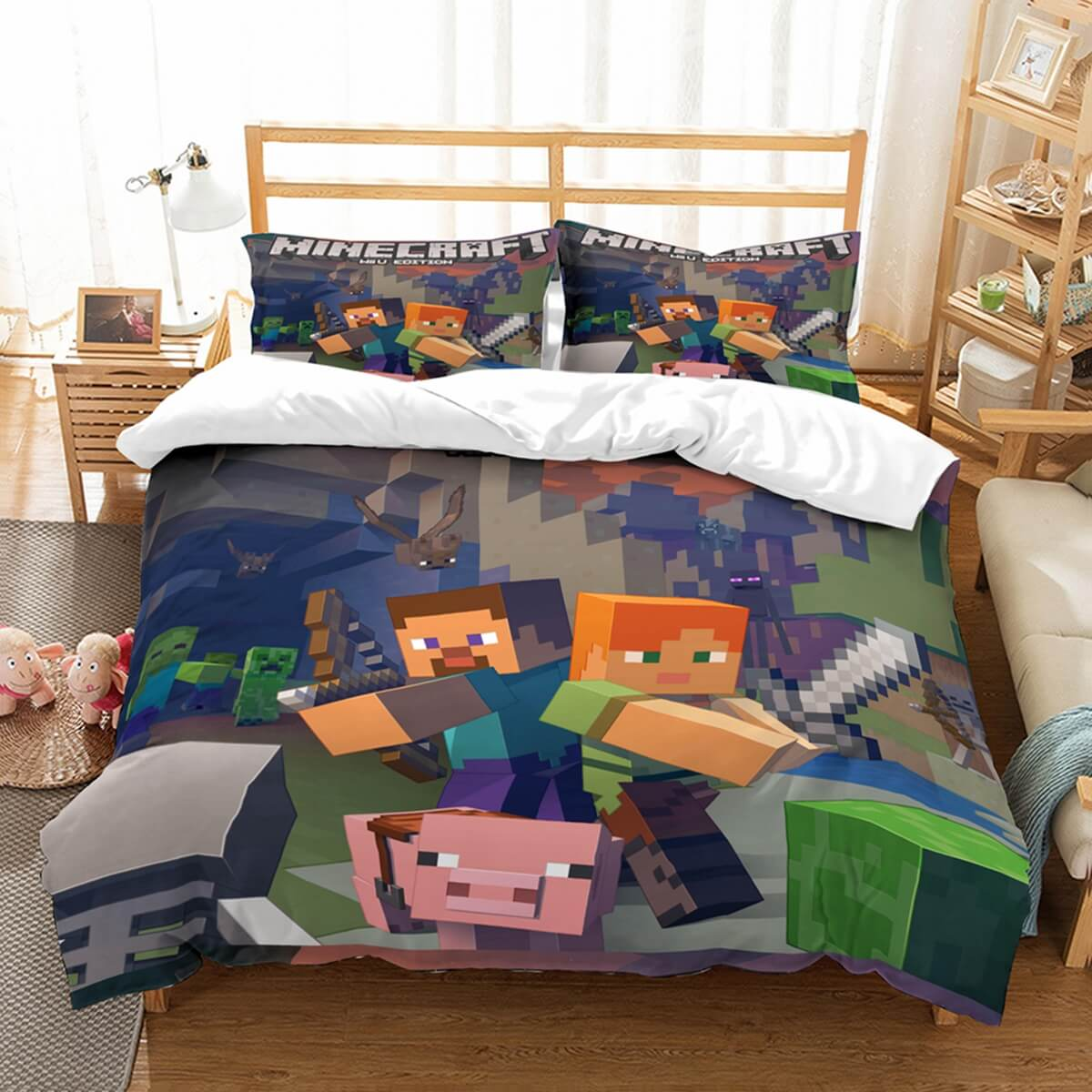 3D Customize Minecraft Bedding Set Duvet Cover Set Bedroom Set Bedlinen