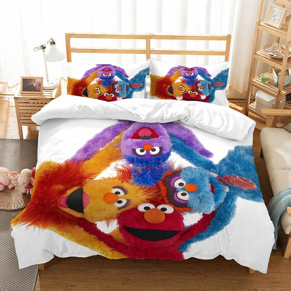 3D Customize Sesame Street Bedding Set Duvet Cover Set Bedroom Set Bedlinen
