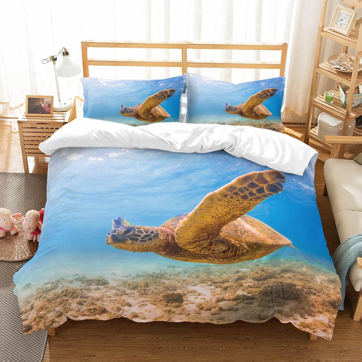 3D Customize Turtles Bedding Set Duvet Cover Set Bedroom Set Bedlinen