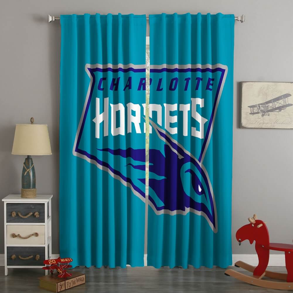 3D Printed Charolette Hornets Style Custom Living Room Curtains