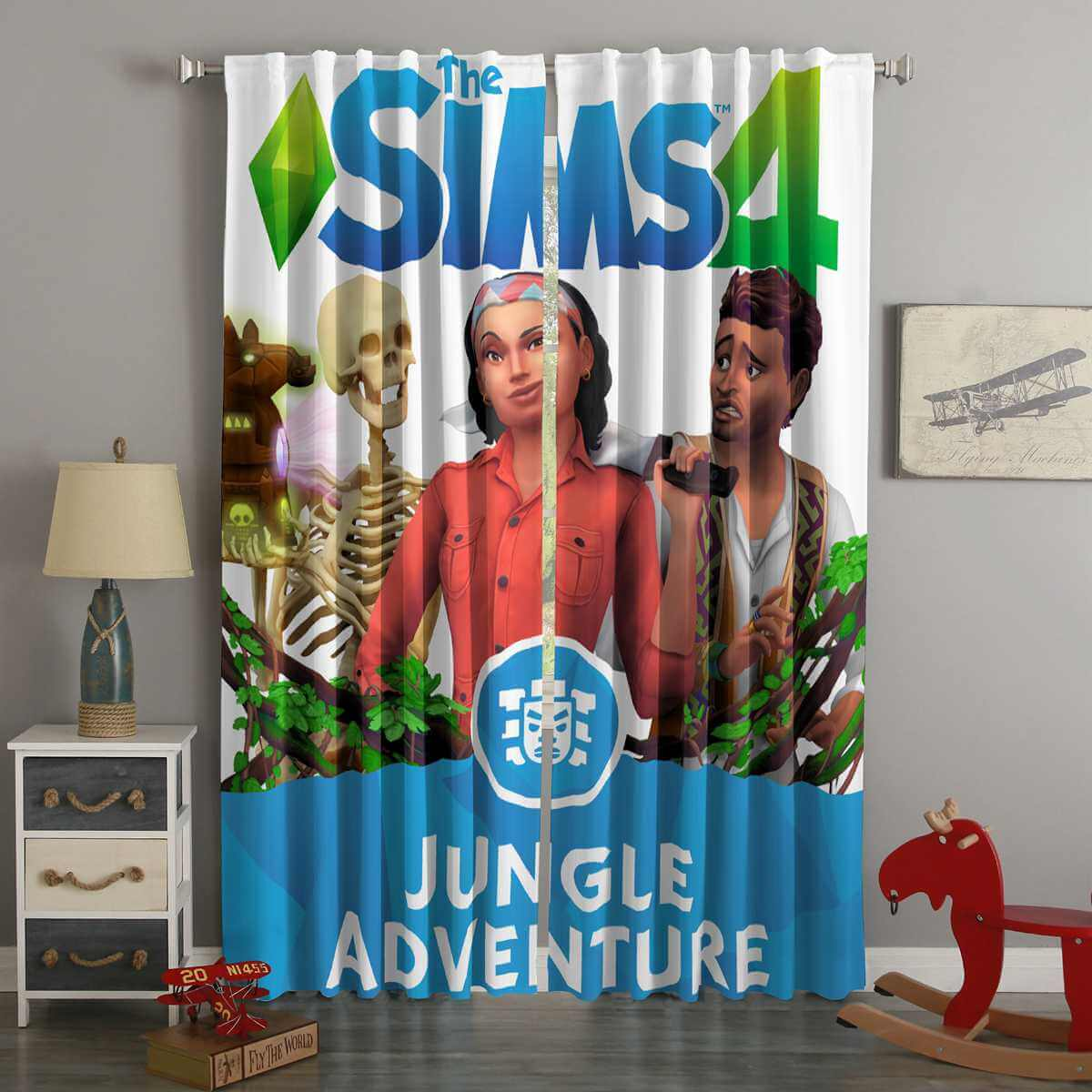 3D Printed Sims 4 Style Custom Living Room Curtains