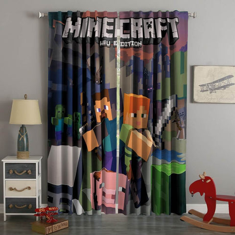 3D Printed Minecraft Style Custom Living Room Curtains