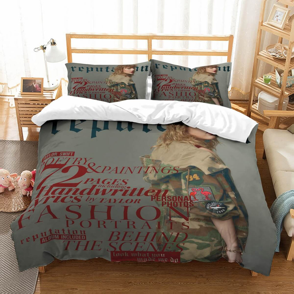 3D Customize Taylor Swift Bedding Set Duvet Cover Set Bedroom Set Bedlinen