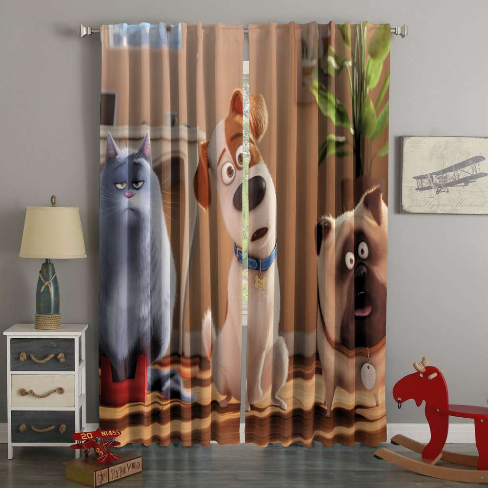 3D Printed Secret Life of Pets Style Custom Living Room Curtains